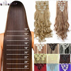 100% Thick Long Clip in Hair Extensions 8 Pieces Clips ins for human hair XY06