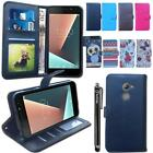 Flip Stand Wallet Leather Case Cover Stand For Vodafone Smart N8 & Stylus Pen