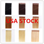 USA STOCK! 22inch Indian Remy Human One Piece Volumizer Clip In Extensions 60g