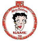 BETTY BOOP Personalized Christmas Ornament Design#4 Any Name & Message Free Ship