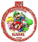 SUPER MARIO Personalized Christmas Ornament Any Name/Message Super Hero