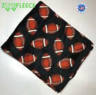 "ZooFleece Football Sports NFL Blanket 42X60"" Black Boys Throw Quilt Christmas image"