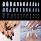 3 Color Full Cover False Nail Long Ballerina Coffin Shape Art Tip Pack of 600