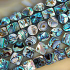 Natural Abalone Shell Gemstone Beads 15.5' Oval Square Coin Oblong Etc