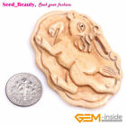 cream for crabs - Big Charms Carved Buffalo Bone Cabochon Beads for Jewelry Making Pendant