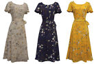 New Ladies Retro WW2 Wartime 1930's 1940's Vintage Style Floral Tea Dress