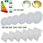 LED RECESSED CEILING LIGHTING PANEL LAMP ROUND BULB SLIM FIXTURES DRIVER-KITCHEN