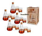 3 pc Personalized Flask Styled Whiskey Liquor Decanter & Low Ball Glass Set