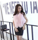 Women Imitation Fur Vest Sleeveless Short Waistcoat Jacket Coat