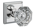 Baldwin Crystal Reserve Traditional Square Rose Full Dummy Door Knob  7 Finishes