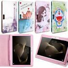 """Folio Cartoon Leather Case Stand Cover Skin For Universal Android 10.1"""" Tablet"""