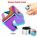 Fidget Hand Spinner Cube Square Brass Metal Colorful Finger Toy EDC Focus ADHD