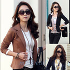 New Fashion Women Button Slim Casual Business Blazer Suit Jacket Coat Outwear