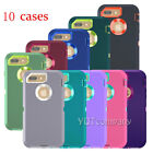 Lot of 10 Hybrid Rubber Hard Case Cover for Apple iPhone 6 6s Plus 7 Plus 8 Plus