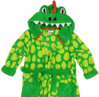 NEW Boys DINOSAUR Hooded Soft Touch Dressing Gown Ages 2,3,4,5,6,7,8,9,10,11 Yrs