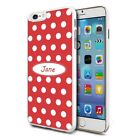 Personalised Premium Hard Case Cover for Mobiles - Red White Spots 45