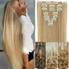Deluxe Long Real Thick Clip in Full Head Hair Extensions Extension US Stock XY81