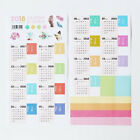 2018 2PCS Calendar Sticker Notebook Monthly Category Planner Label Accessories