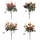 Romantic 2 Bunch 21 Heads Fake Rose Flower Bridal Bouquet Wedding House Decor