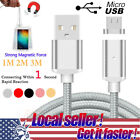 3~10ft Magnetic Led Micro Usb Fast Charger Transfer Cable For Android Samsung Us
