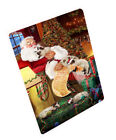 Siamese Cats and Kittens Sleeping with Santa Woven Throw Sherpa Blanket T158