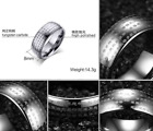 AAA Men's New Popular Size 6-13 Black Tungsten Steel  Simple Religion Rings Gift