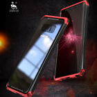 Luphie  Case Transparent Tempered Glass Metal Cover for Samsung Galaxy Note8
