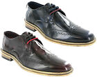 Lambretta Brogue Shoes High Shine Formal Smart Franky Brush Off Men Lace UK 7-12