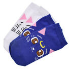 Anime Sailor Moon Socks Luna Artemis Diana Cats Low Cut Women Cotton Blend Sock