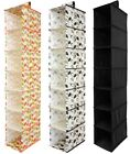 7 SECTION SHELVES HANGING WARDROBE SHOE GARMENT ORGANISER STORAGE CLOTHES TIDY