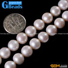 Natural Near Round White Freshwater Pearl Beads For Jewelry Making Free Shipping