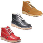 Kickers Kick Hi Core Men Leather Matt Red Hi Top Boots