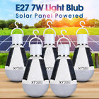 Solar Powered LED Bulb Light Portable Outdoor Garden Camping Hiking Tent Lamp 7W