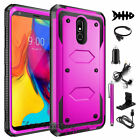 For LG Stylo 3 4 5 6 Plus Shockproof Hybrid Armor Rubber Rugged Case Phone Cover