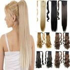 US Clip In Ponytail Real Thick As Human Remy Hair Extensions Wrap On Ponytail FO