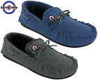 Lambretta Moccasins Slippers Mens Warm Lined Outdoor Flat Slip On Boxed Gift
