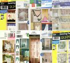 Window Treatments Sewing Patterns ~ Curtains Drapes Shades Valances~ Your Choice