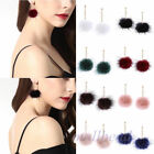 Women's 1 Pair Earrings Pom Pom Ball Dangle Drop Stud Earring Jewelry Xmas Gift