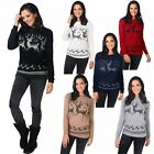 Womens Xmas Christmas Jumper Ladies Novelty Retro Pullover Fluffy Knit Sweater