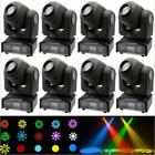 8 Pack 60W RGBW LED Moving Head Stage Lighting DMX-512 DJ Disco XMAS Party Light фото