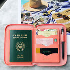 Travel Brief Pocket Passport Case Card Cash Ticket ID Holder Zipper Wallet Purse