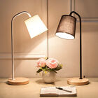 Solid Wood Base Design Table Lamp Bedside Desk Floor Light Home Cafe Desk Decor