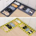1Pcs Non-slip Cartoon Cat Print Carpet Doormat Rug Mat Cover Pad 40x60cm W
