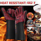 BBQ Heat Resistant 662℉ Silicone Kitchen Oven Cooking Grilling Bake Mitt Gloves