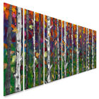 Metal Wall Art Decor Contemporary Landscape Lessons of the Birch
