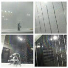 Black & White Sparkle Sample with or without chrome strips bathroom cladding pvc