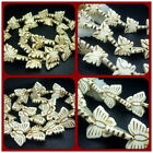 "13x16mm、20x26MM White Turquoise Gems Butterfly Spacer Beads 16"" / 27pcs"