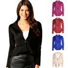 Womens Candy Color Blazer Jacket Suit Work Casual Basic Button Coats Long Sleeve