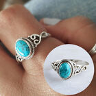 Antique Turquoise Natural Gemstone Bride Wedding Engagement Vintage Ring Cheap