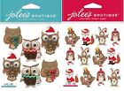 U CHOOSE Jolee's Stickers HOLIDAY ANIMAL REPEATS - PINECONE OWL REPEAT Christmas